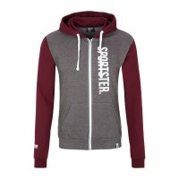 Sportsterwear Retro Zip-Up Jacke Burgundy