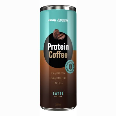 Body Attack Protein Coffee Latte Flavour 250ml