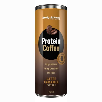 Body Attack Protein Coffee Latte Caramel Flavour 250ml