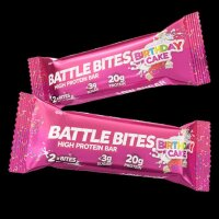 Battle Bites High Protein Bar Birthday Cake